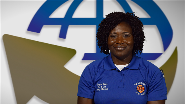 Video Thumbnail for Valdosta Fire Department's Tangela Rowe on Fire Education & Safety